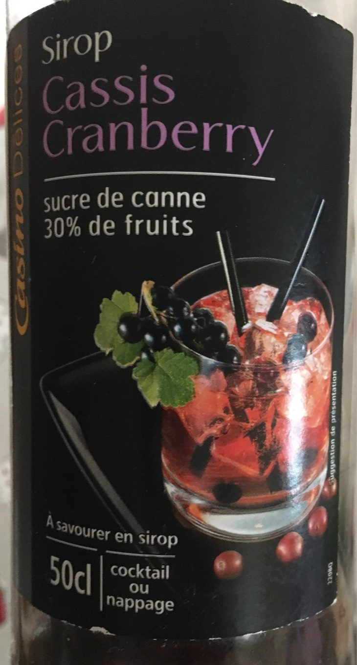 Sirop Cassis Cranberry 50cl - Product - fr