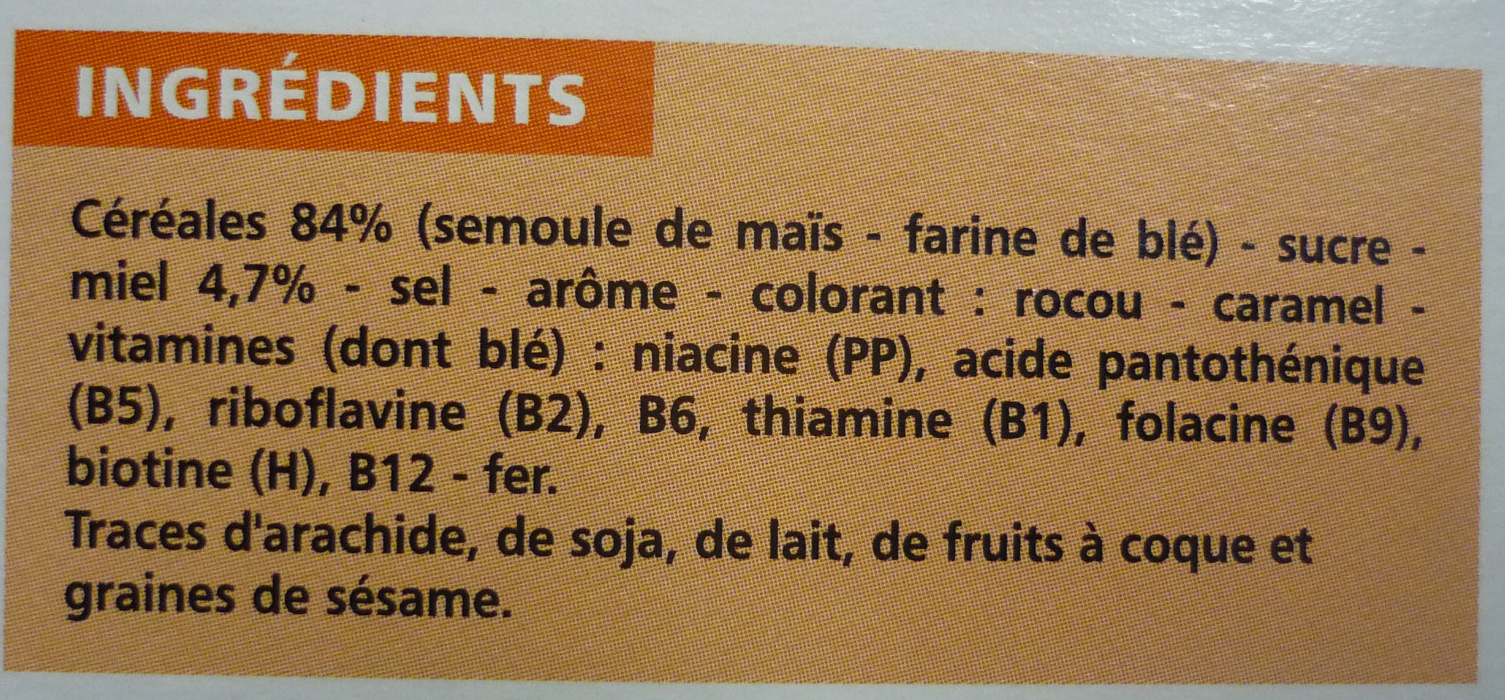 Boules Miel - Ingredients - fr