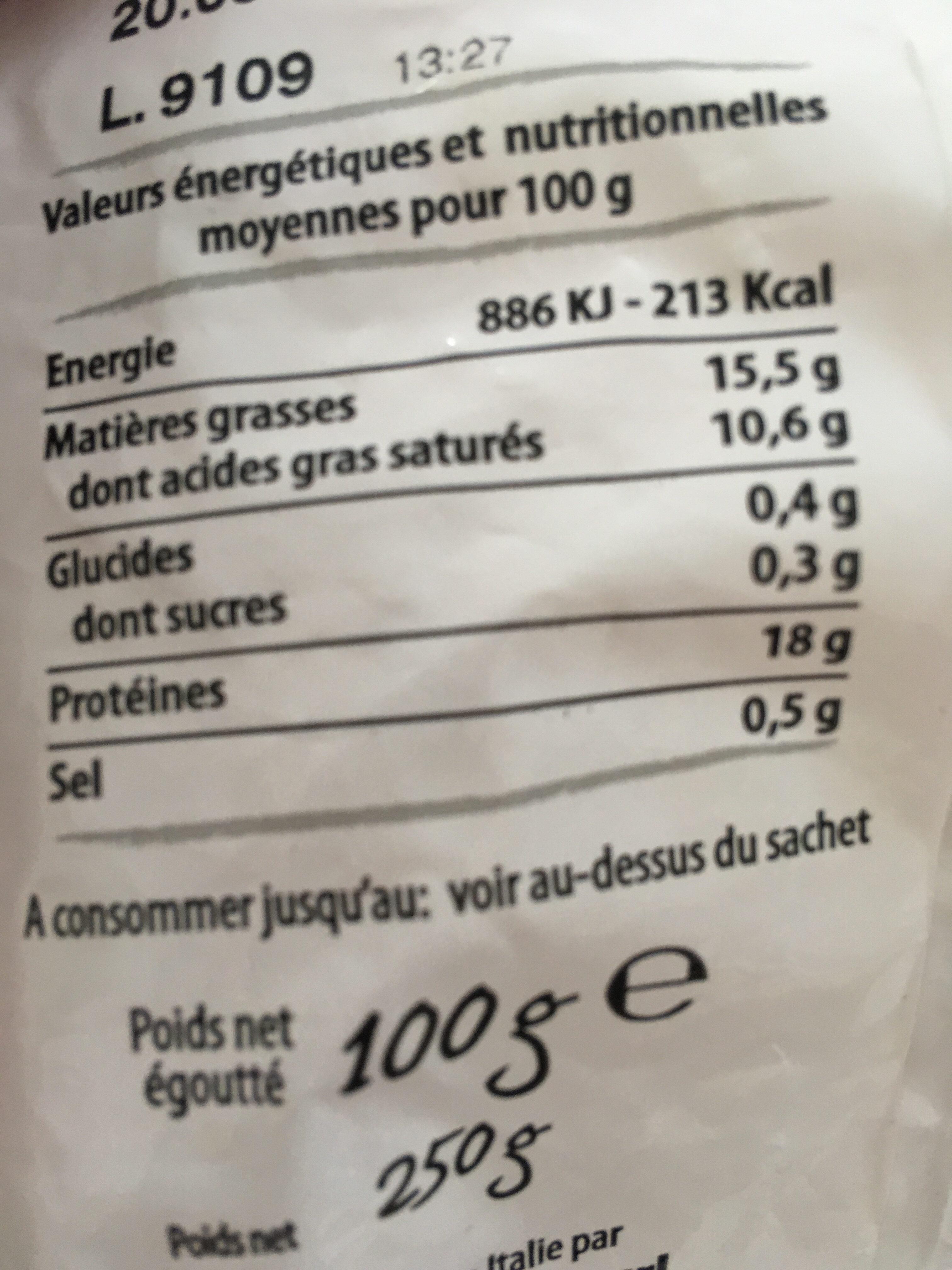 FILETS DE MAQUEREAUX FUMES AU BOIS DE HËTRE AU POIVRE - Nutrition facts - fr
