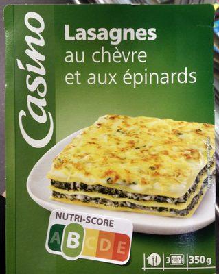 Lasagnes au chèvre et aux épinards - Product - fr