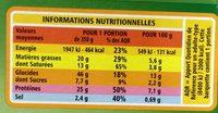 Lasagnes au chèvre et aux épinards - Voedingswaarden - fr