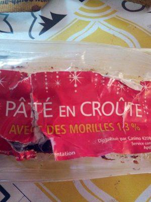Pâté en croûte supérieur avec des morilles 1,3 %, pâte saindoux - Prodotto - fr