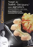 Casino Délices Noix de St Jacques aux agrumes, orecchiette et son concassé de tomates - Produit