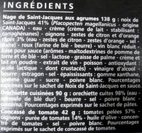 Casino Délices Noix de St Jacques aux agrumes, orecchiette et son concassé de tomates - Ingrédients