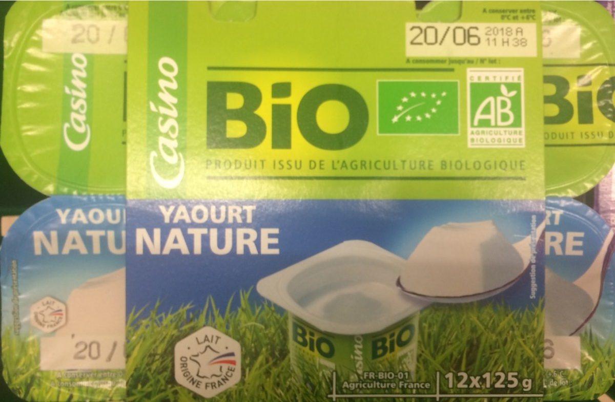 Yaourt nature issu de l'agriculture biologique - Product