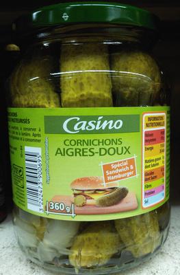 Cornichons aigres-doux Spécial Sandwich & Hamburger - Product