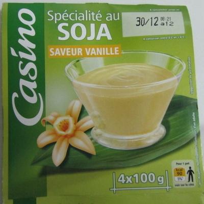 Spécialité au soja saveur vanille source de calcium - Produit - fr