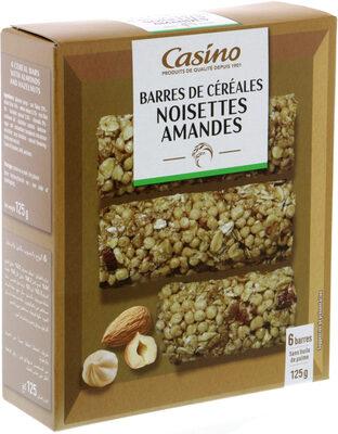 Barres céréales amandes noisettes - Product