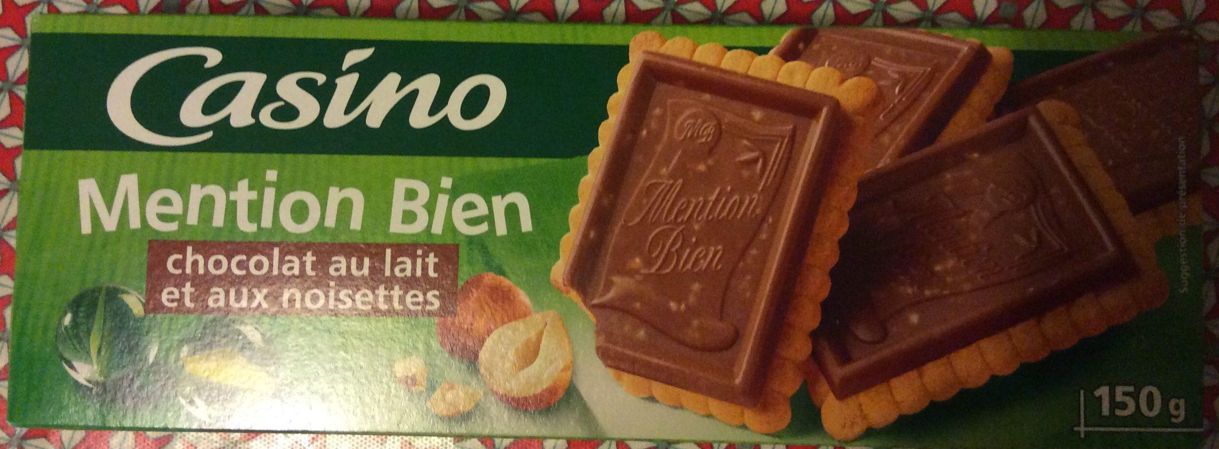 Mention Bien Chocolat au Lait et aux Noisettes - Product - fr