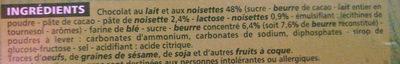 Mention Bien Chocolat au Lait et aux Noisettes - Ingrediënten - fr