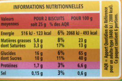 Mention Bien Chocolat au Lait et aux Noisettes - Voedingswaarden - fr