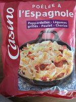 Poêlée à l'espagnole Pappardelles - Légumes grillés - Poulet - Chorizo - Product