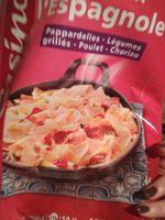 Poêlée à l'espagnole Pappardelles - Légumes grillés - Poulet - Chorizo - Ingrediënten