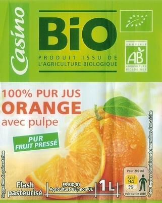 100 % Pur Jus Orange  pressée avec pulpe - Product - fr