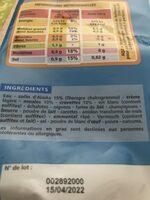 Coquilles de fruits de mer - Ingrediënten - fr