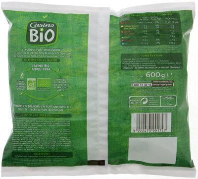 Epinards en branches Bio - Voedingswaarden