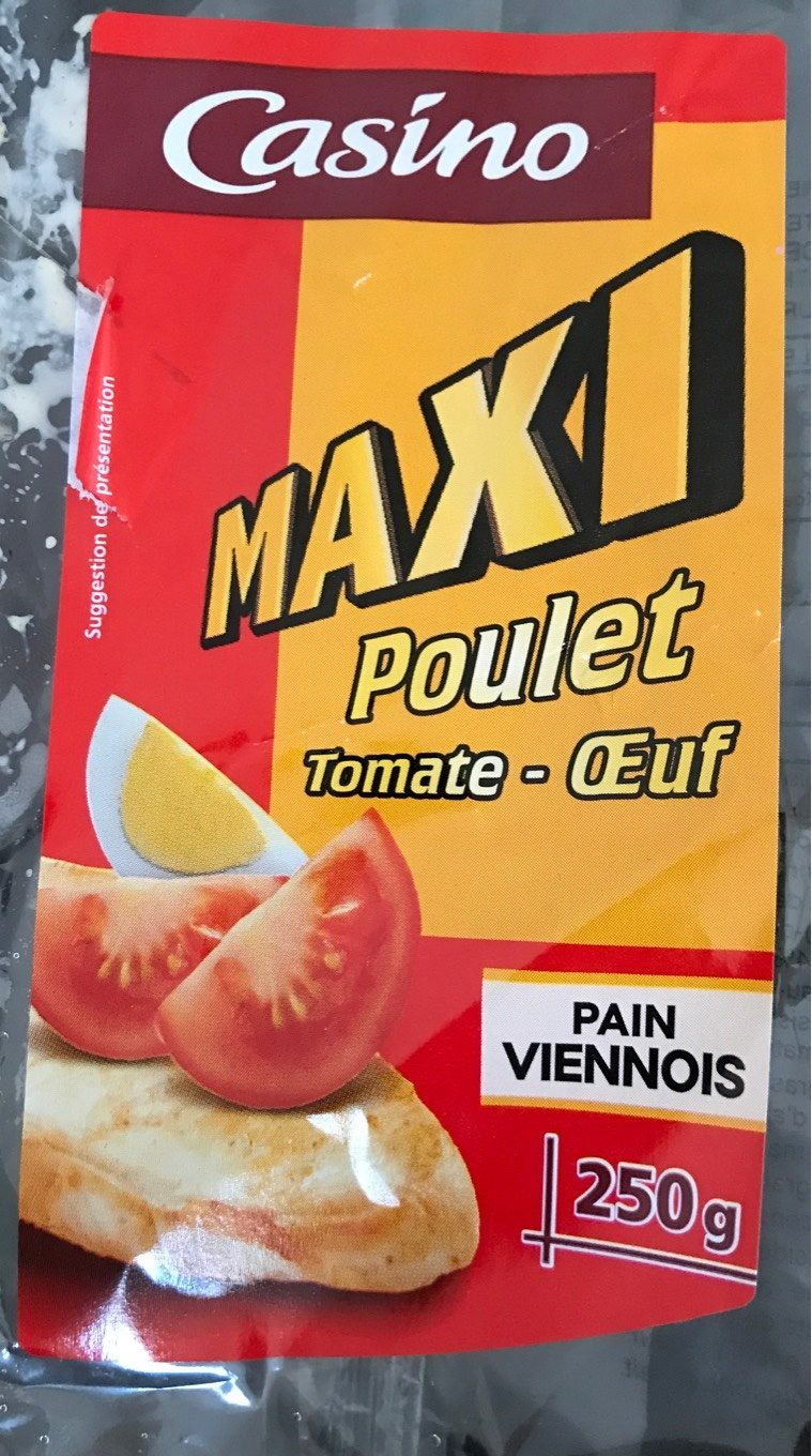 Sandwich Pain Viennois Maxi Poulet Tomate Oeuf - Product