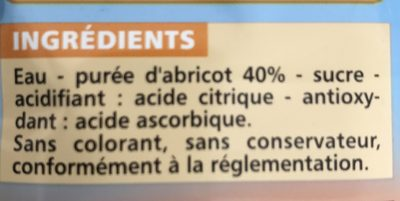 Nectar d'Abricot - Ingredients