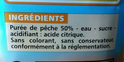 Peche teneur en fruits 50% minimum - Ingrédients - fr