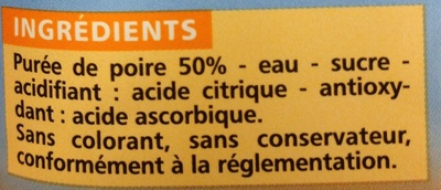 Poire teneur en fruits 50% minimum - Ingrédients - fr