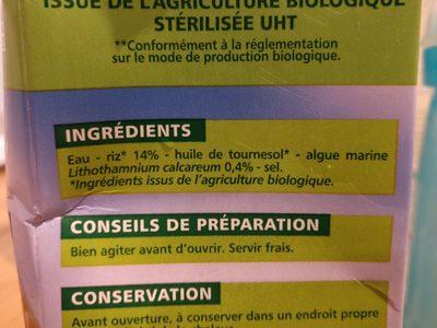 Boisson Riz Calcium - Ingrediënten