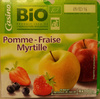 Compote Pomme - Fraise - Myrtille - Product