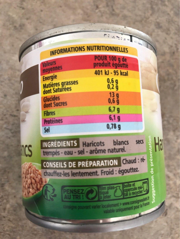 Haricots blancs préparés - Informations nutritionnelles