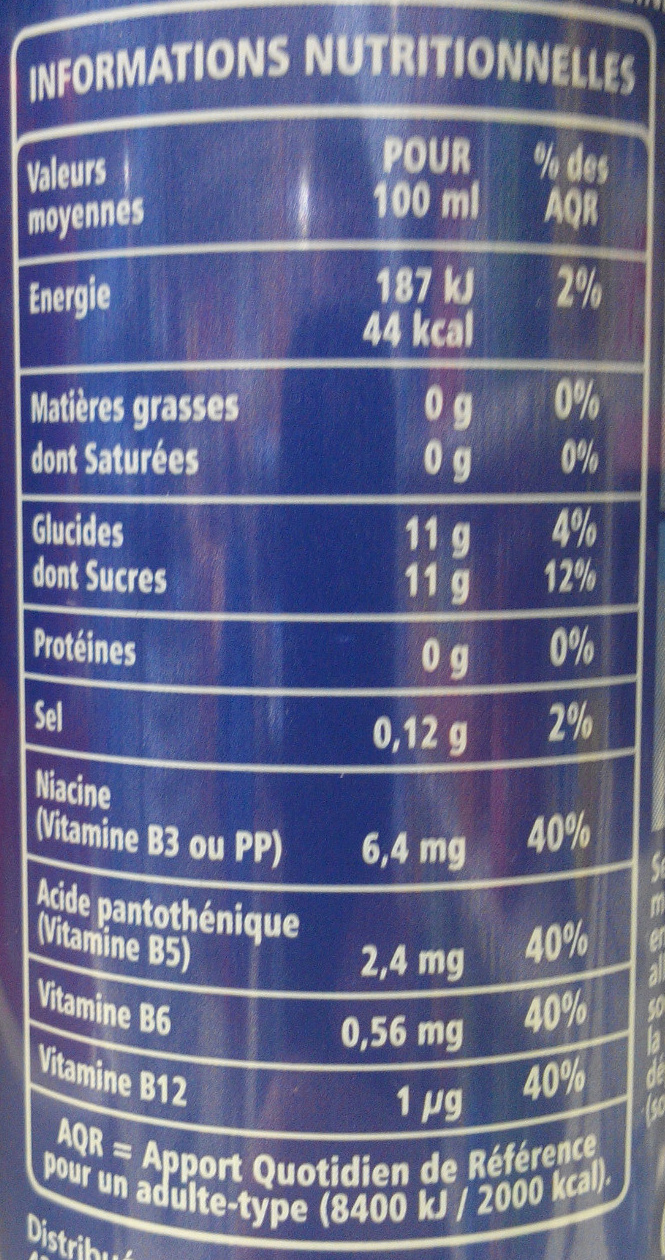 Taurine drink - Informations nutritionnelles - fr