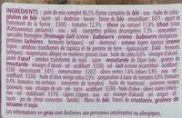 Sandwich Thon Provençale - Pain de mie complet - Ingredients