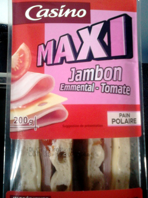 Sandwich Jambon Emmental Tomate Pain Polaire Maxi - Produit - fr