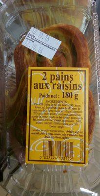 2 pains aux raisins - Produit - fr