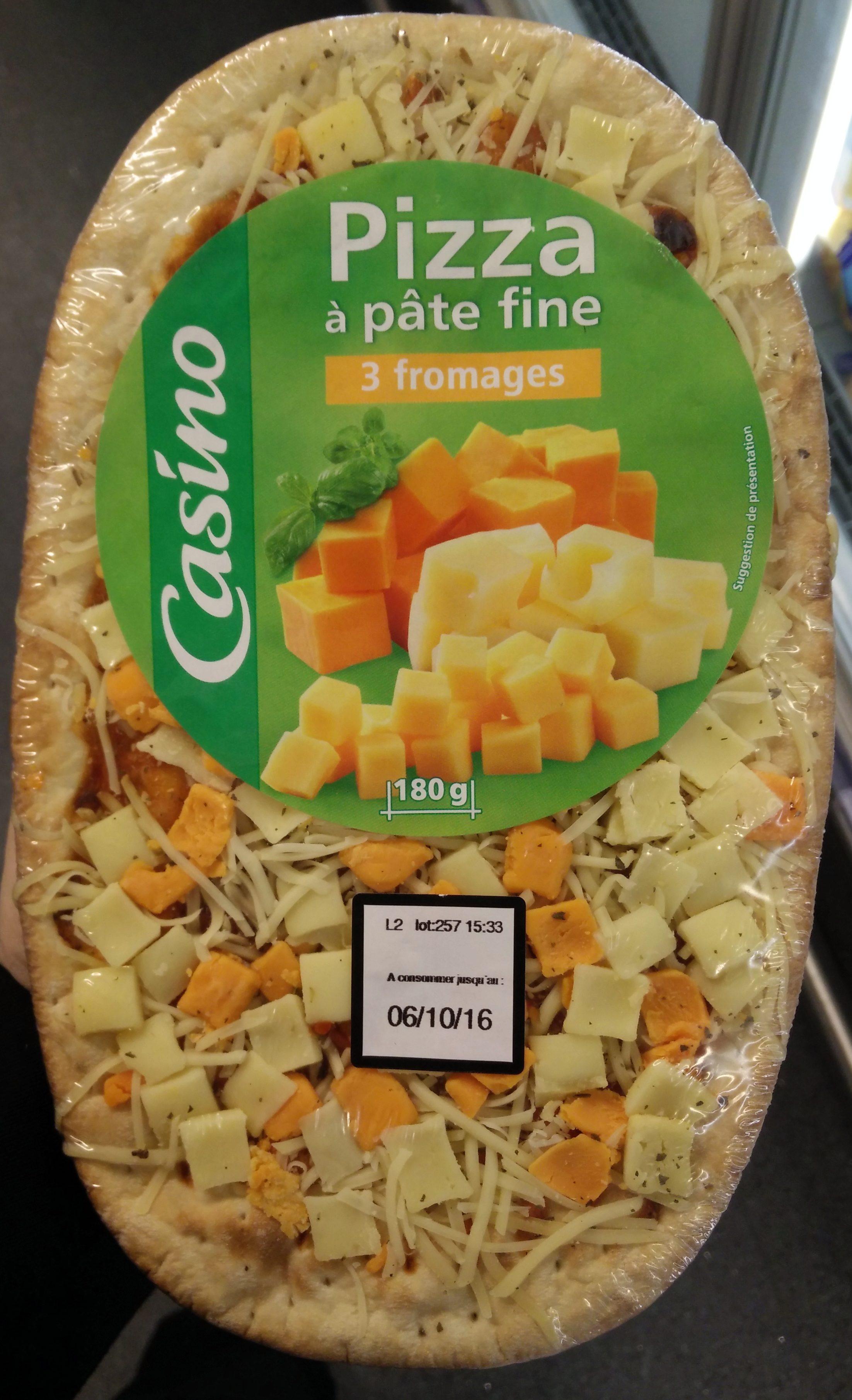 Pizza à pâte fine 3 fromage - Produit - fr