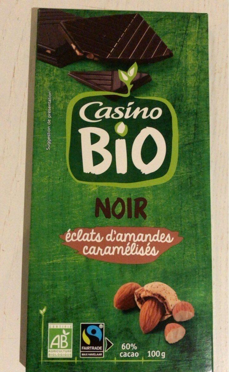 Chocolat noir amande bio - Produit - fr