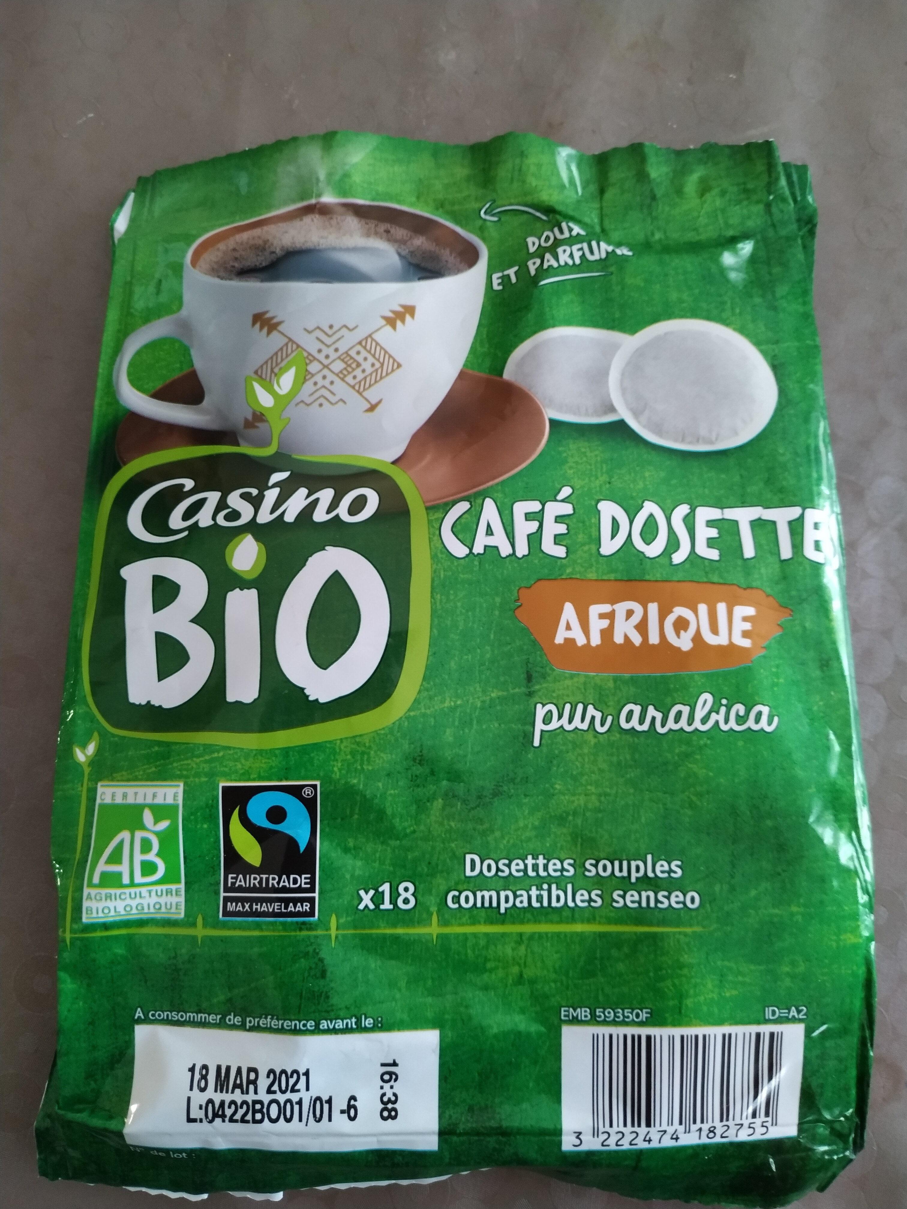 Café Dosettes Pur Arabica Afrique - Product - fr
