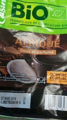 Café Dosettes Pur Arabica Afrique - Ingrediënten
