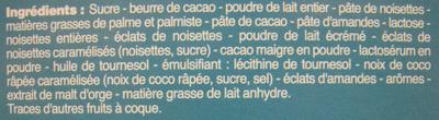 Rêves de chocolat Assortiment de chocolats au lait Beaumesnil - Ingredients - fr