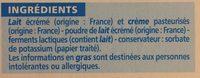Le petit fromage frais - Ingrediënten - fr