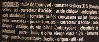 Le Tartinable de tomates séchées - Ingredients