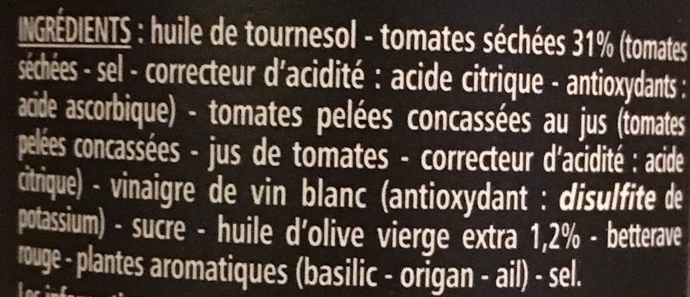 Le Tartinable de tomates séchées - Ingrediënten
