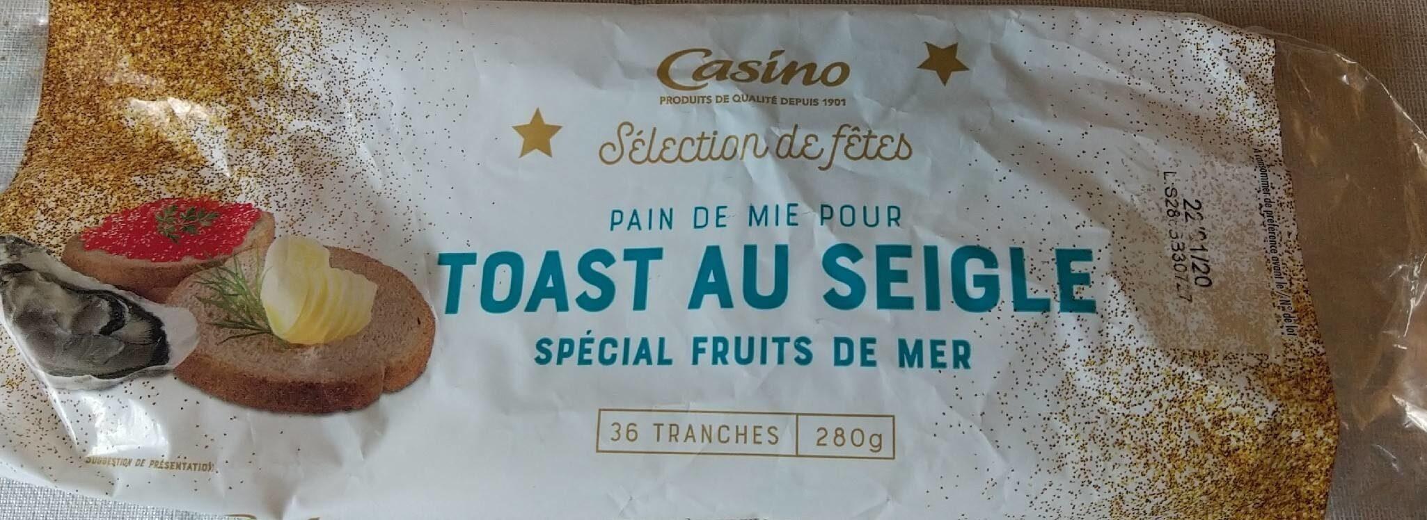 Pain de mie pour toast au seigle spécial fruits de mer - Product