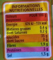 Gnocchi à la Pomme de terre - Informations nutritionnelles - fr