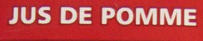 100% Pur Jus Pomme - Ingrediënten - fr