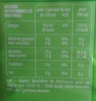 100% Pur Jus Pomme - Voedingswaarden - fr