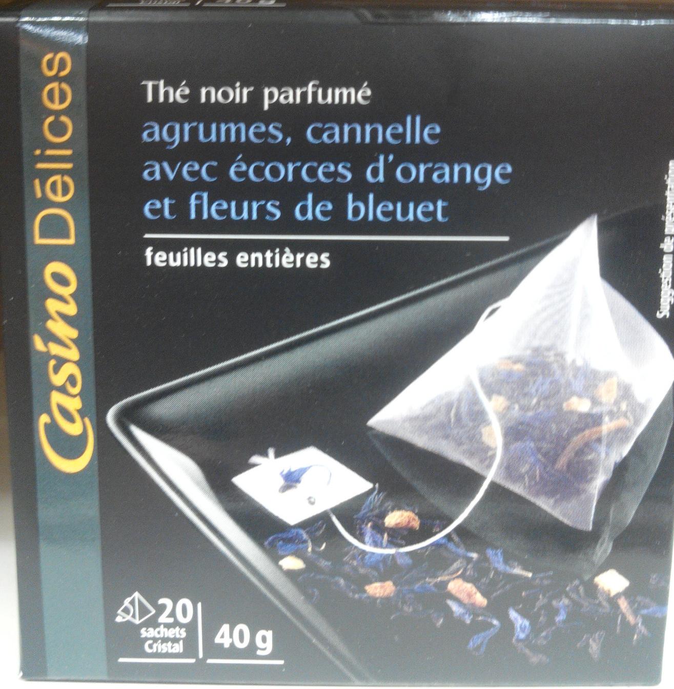 th noir parfum agrumes cannelle avec corces d 39 orange. Black Bedroom Furniture Sets. Home Design Ideas