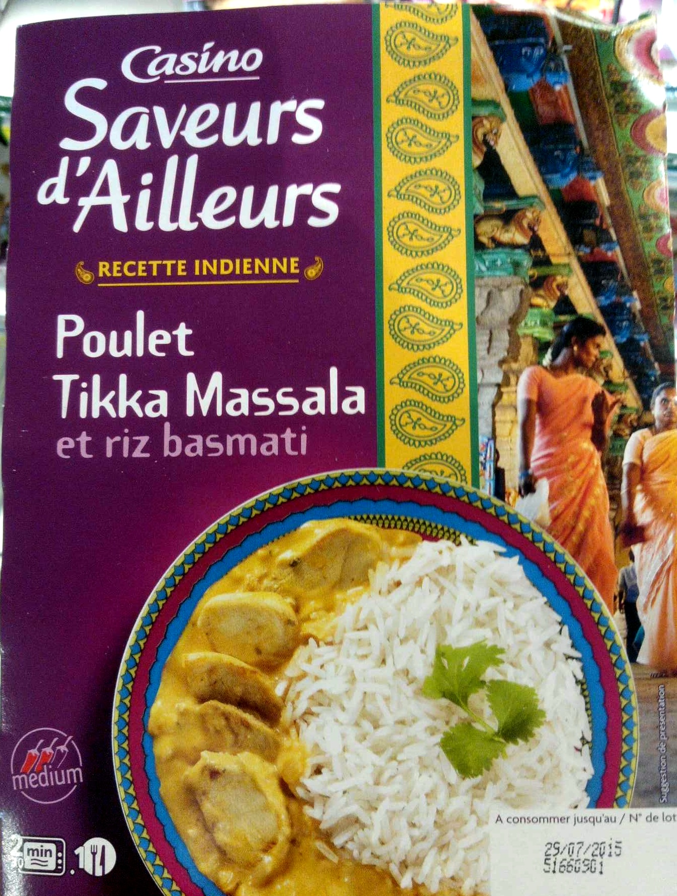 Poulet tikka massala et riz basmati - Product - fr