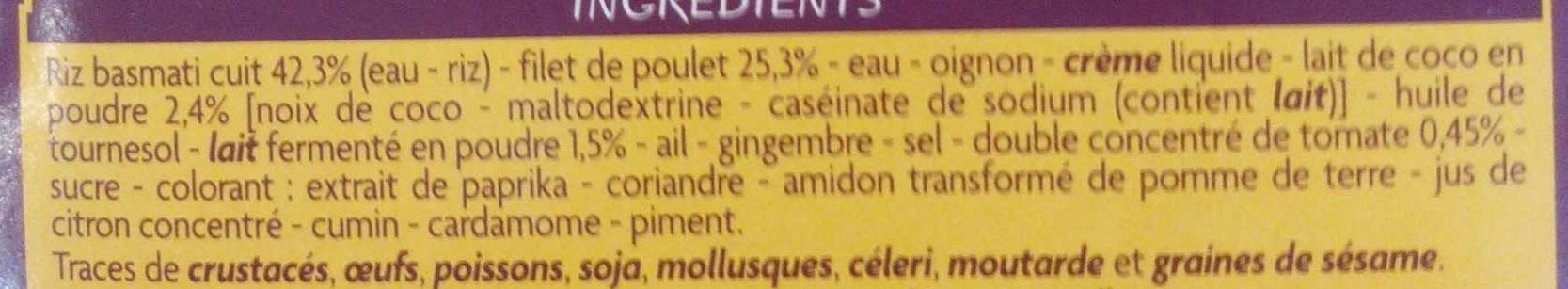 Poulet tikka massala et riz basmati - Ingrediënten - fr