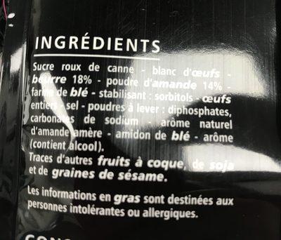 Mini financiers aux amandes - Ingrediënten - fr