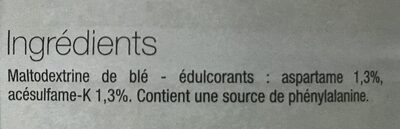 Edulcorant Poudre 75G BPV Co - Ingredients