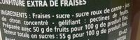 Confiture extra fraises - Ingrediënten