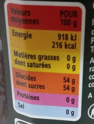 Confiture extra fraises - Voedigswaarden